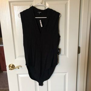 Express black body suit